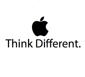 """Apple's logo that says """"Think Different"""""""