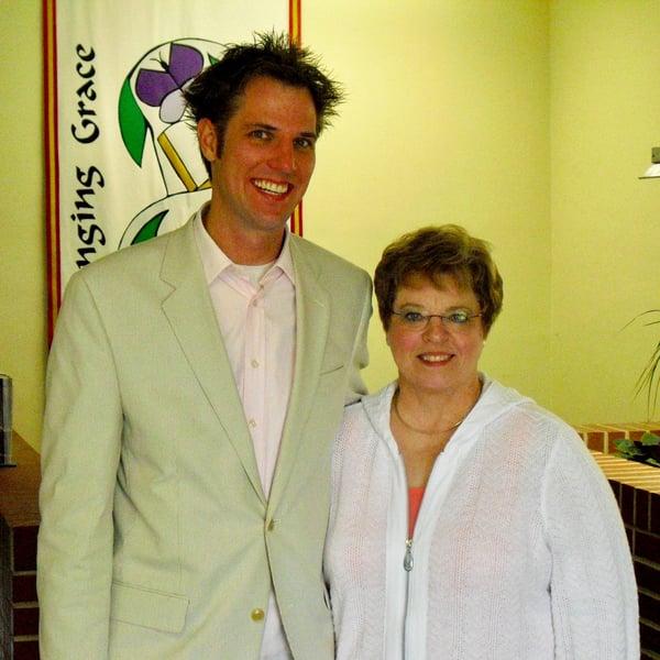 COO Tim Cynova and his mom