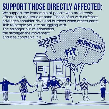 Support Those Directly Affected