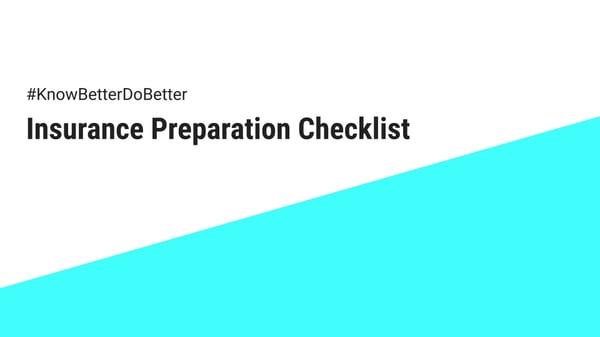 Insurance Preparation Checklist Cover Image
