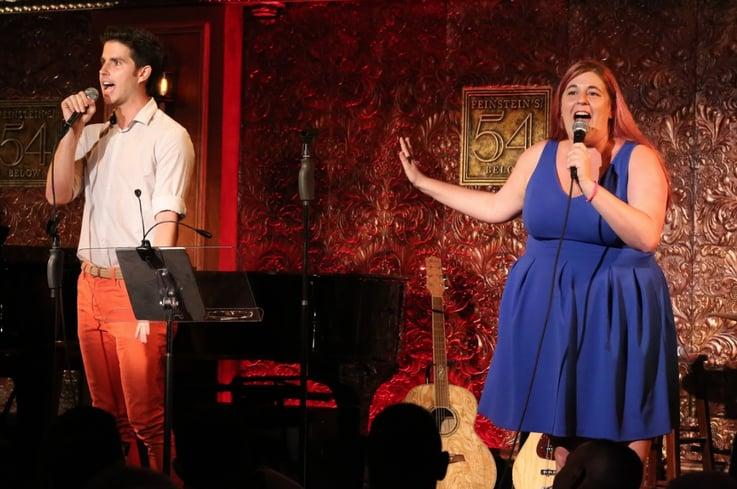 Jamie sings on stage at Feinstein's 54