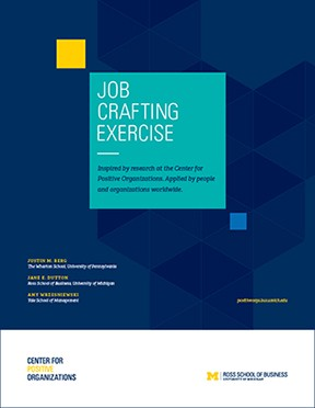 Cover for Job Crafting Exercise workbook
