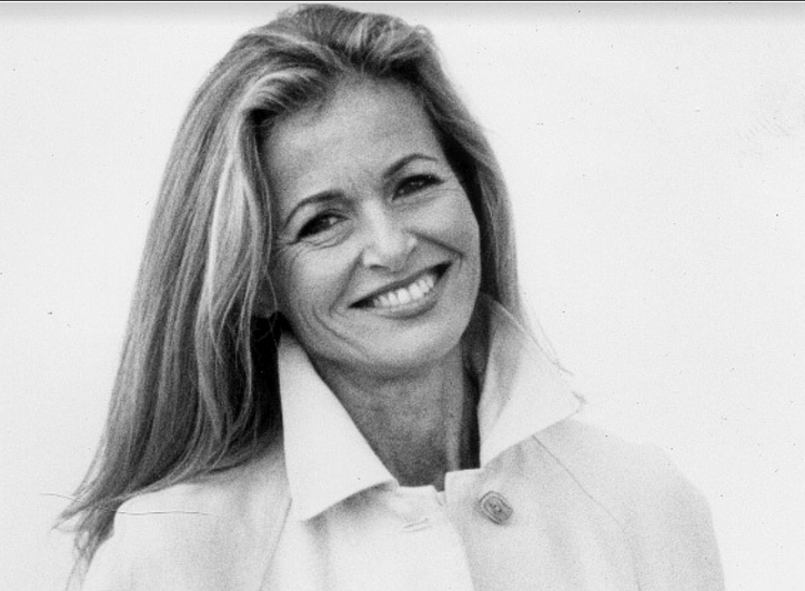 A black and white photo of Susan
