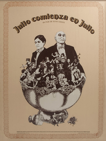 "Movie poster for ""Julio comienza co Julio"""