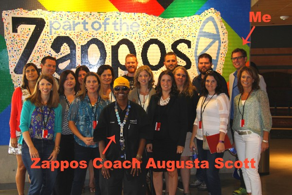Zappos Coach with group in photo