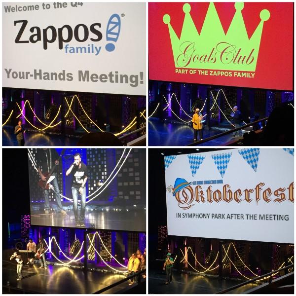 Zappos meeting collage of photos