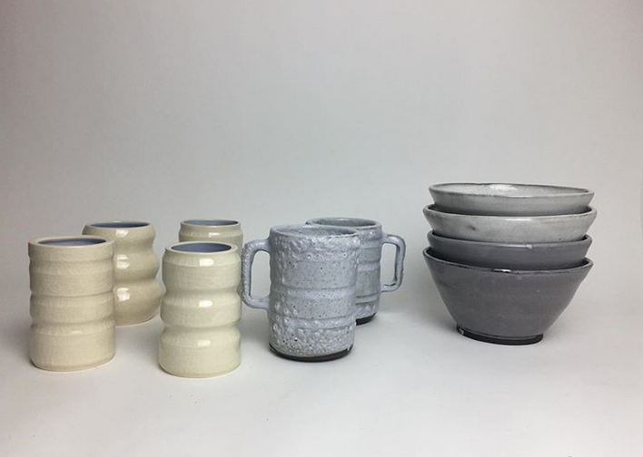 Ceramic vases mugs and bowls