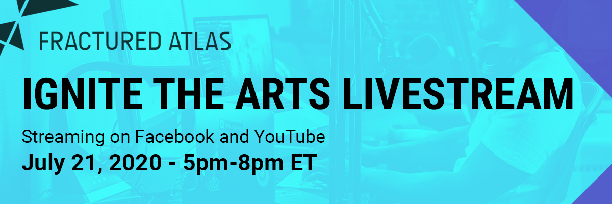 Announcing the First Ignite the Arts Livestream